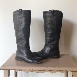 Frye Paige Tall Brown Leather Riding Boots
